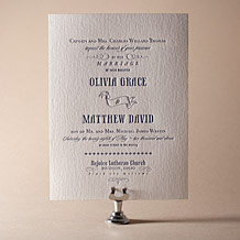 Bradford Letterpress Invitation Design Small