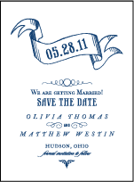 Bradford Letterpress Save The Date Design Small
