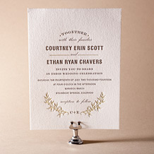 Branch Letterpress Invitation Design Small