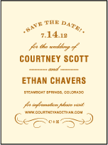 Branch Letterpress Save The Date Design Small