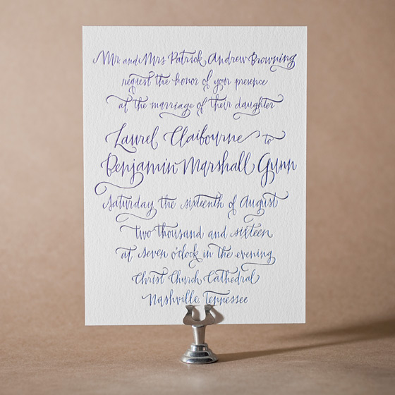Browning Letterpress Invitation Design Small