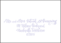 Browning Letterpress Reply Envelope Design Small