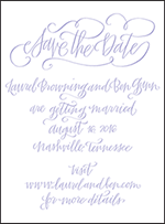 Browning Letterpress Save The Date Design Small