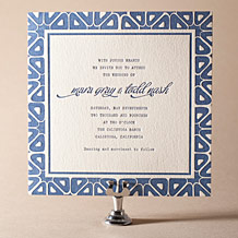 Byzantine Letterpress Invitation Design Small