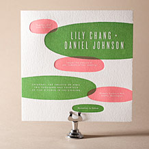 Calder Letterpress Invitation Design Small