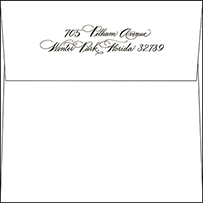 Callaway Letterpress Envelope Design Small
