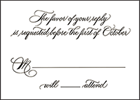 Callaway Letterpress Reply Design Small