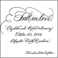 Callaway Letterpress Save The Date Design Small