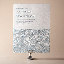 Camilla Letterpress Invitation Design Small