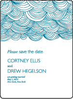 Camilla Letterpress Save The Date Design Small
