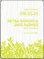 Canopy Letterpress Save The Date Design Small