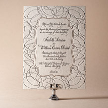 Canto Letterpress Invitation Design Small