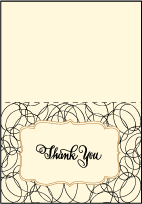 Canto Letterpress Thank You Card Fold Design Small