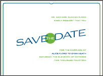 Cardette Letterpress Save The Date Design Small