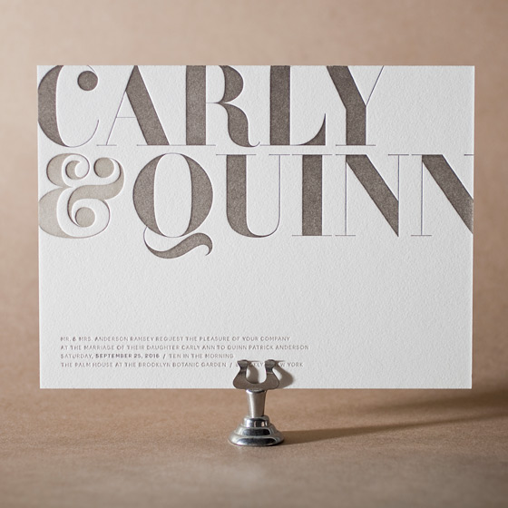 Carly Letterpress Invitation Design Small