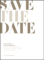 Carly Letterpress Save The Date Design Small