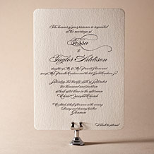 Carlyle Letterpress Invitation Design Small