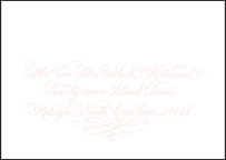 Carolina Letterpress Reply Envelope Design Small