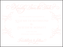 Carolina Letterpress Save The Date Design Small
