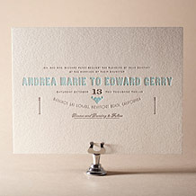 Carte de Visite Letterpress Invitation Design Small