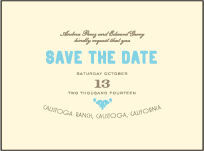 Carte de Visite Letterpress Save The Date Design Small