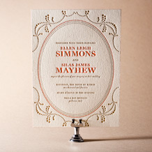 Cartoccio Letterpress Invitation Design Small
