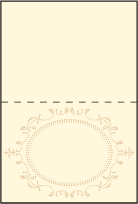 Cartoccio Letterpress Placecard Fold Design Small