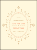Cartoccio Letterpress Save The Date Design Small