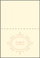 Cartoccio Letterpress Thank You Card Fold Design Small