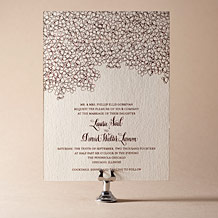 Cascade Letterpress Invitation Design Small