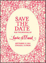Cascade Letterpress Save The Date Design Small