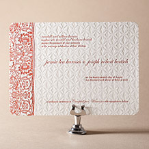 Cecilia Letterpress Invitation Design Small