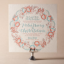 Chapin Letterpress Invitation Design Small