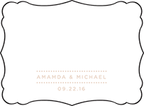 Charlotte Letterpress Placecard Flat Design Small