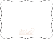 Charlotte Letterpress Thank You Card Flat Design Small