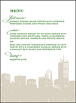 Charmed Boston Letterpress Menu Design Small