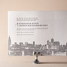 Charmed Chicago Letterpress Invitation Design Small