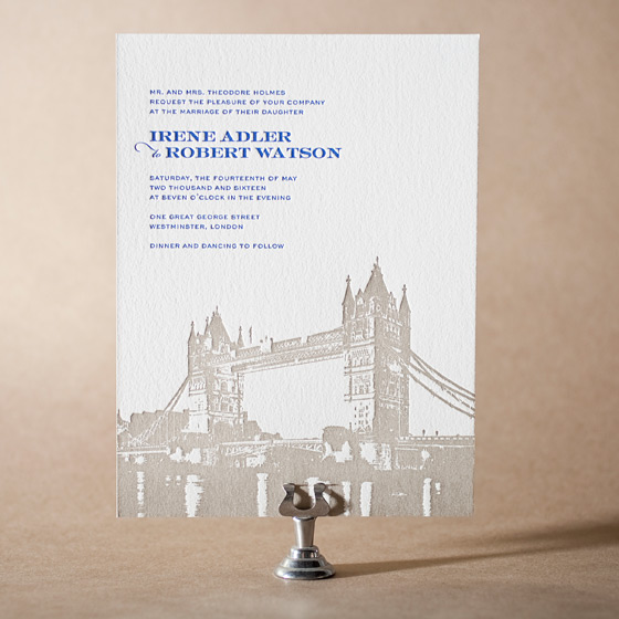 Charmed London Letterpress Invitation Design Small