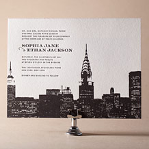 Charmed New York Letterpress Invitation Design Small