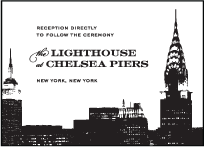Charmed New York Letterpress Reception Design Small