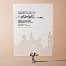 Charmed Philadelphia Letterpress Invitation Design Small