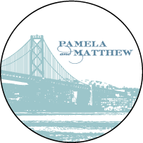 Charmed San Francisco Letterpress Coaster Design Small
