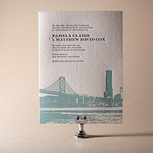 Charmed San Francisco Letterpress Invitation Design Small