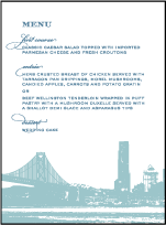 Charmed San Francisco Letterpress Menu Design Small