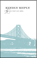 Charmed San Francisco Letterpress Reply Postcard Front Design Small