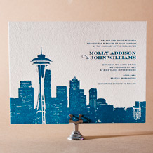 Charmed Seattle Letterpress Invitation Design Small