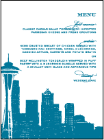 Charmed Seattle Letterpress Menu Design Small