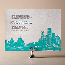 Charmed Sydney Letterpress Invitation Design Small