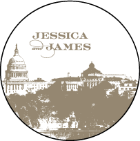 Charmed Washington DC Letterpress Coaster Design Small