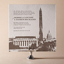 Charmed Washington DC Letterpress Invitation Design Small